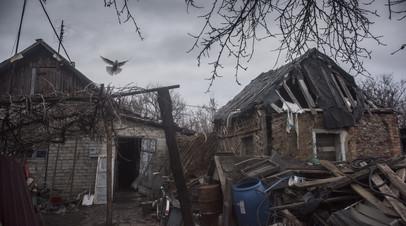Жилой дом в районе города Горловка Донецкой области.