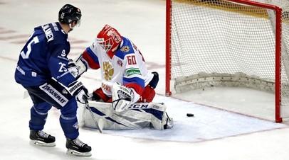 Хоккеисты сборных России и Финляндии в матче Чешских игр
