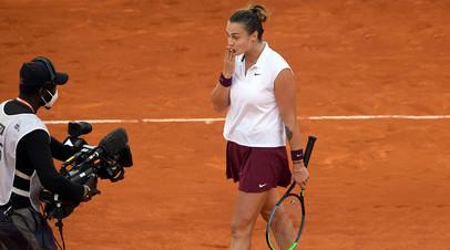Соболенко поднялась на вторую строчку в чемпионской гонке WTA