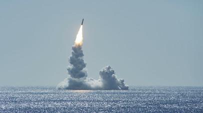 Запуск американской баллистической ракеты Trident II (D5LE)