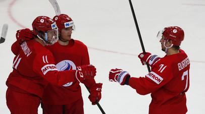 Ротенберг: хоккеисты сборной России сыграли друг за друга в матче с Данией