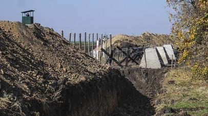 В ФСБ рассказали о строительных работах Украины на границе с Россией