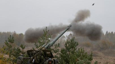 ВС Украины провели артиллерийские учения на границе с Крымом