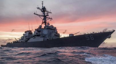 Эсминец ВМС США John S. McCain