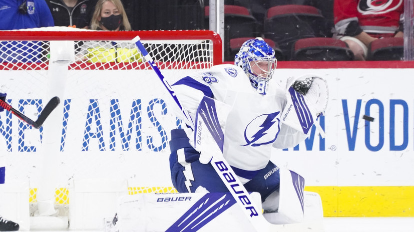 31 сейв Василевского помог «Тампе» обыграть «Каролину» в матче плей-офф НХЛ