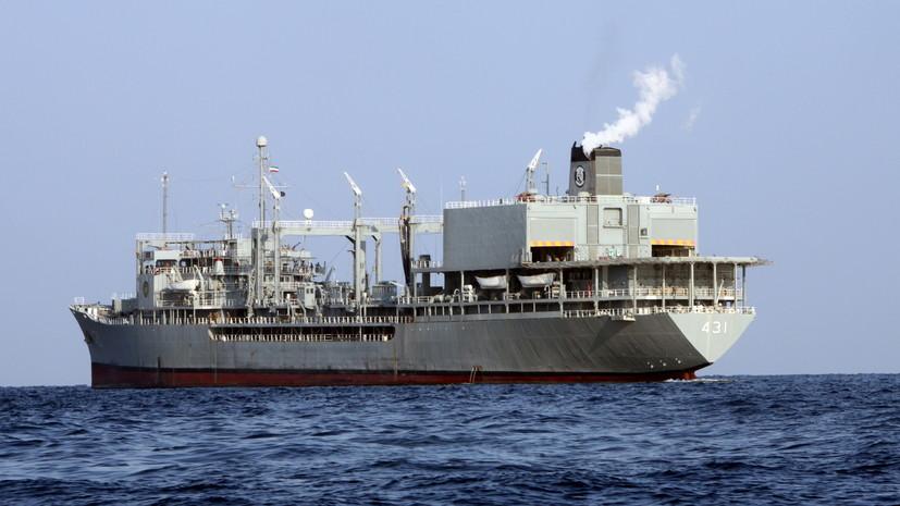 Более 30 человек пострадали при пожаре на военном корабле в Иране
