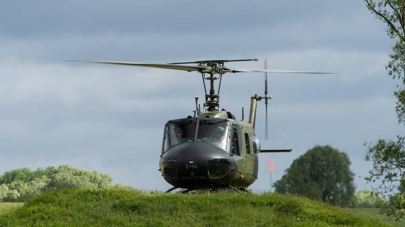 Военный вертолёт США совершил аварийную посадку в Японии