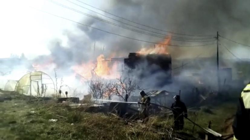 Открытое горение в двух домах в Приангарье ликвидировано