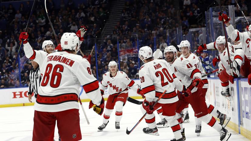 «Каролина» победила «Тампу» и сократила отставание в серии плей-офф НХЛ