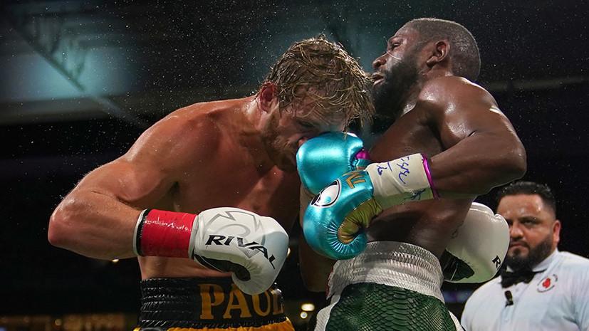 «Он оказался лучше, чем я думал»: Мейвезер не сумел победить блогера Пола в выставочном боксёрском поединке