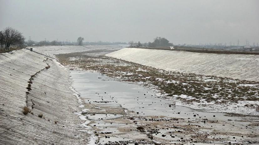 В Крыму оценили данные о разрушении созданной для водной блокады дамбы