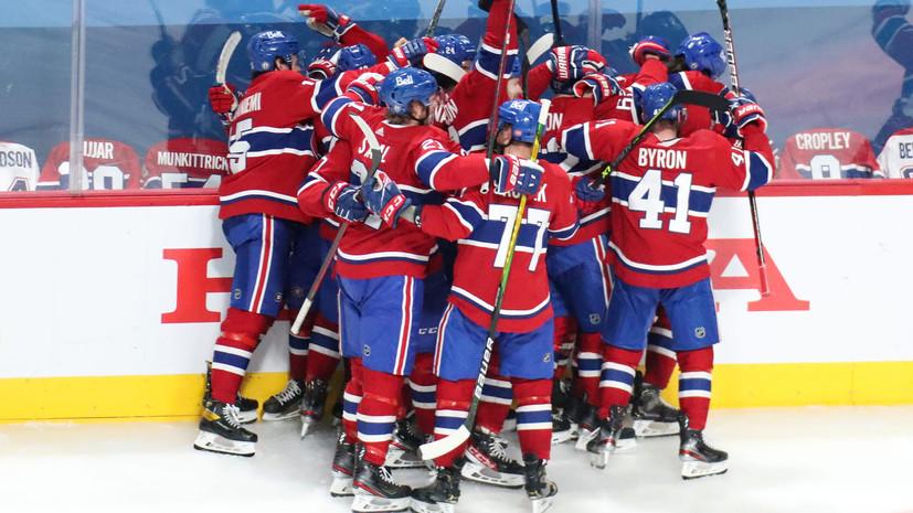 «Монреаль» победил «Виннипег» и вышел в третий раунд плей-офф НХЛ