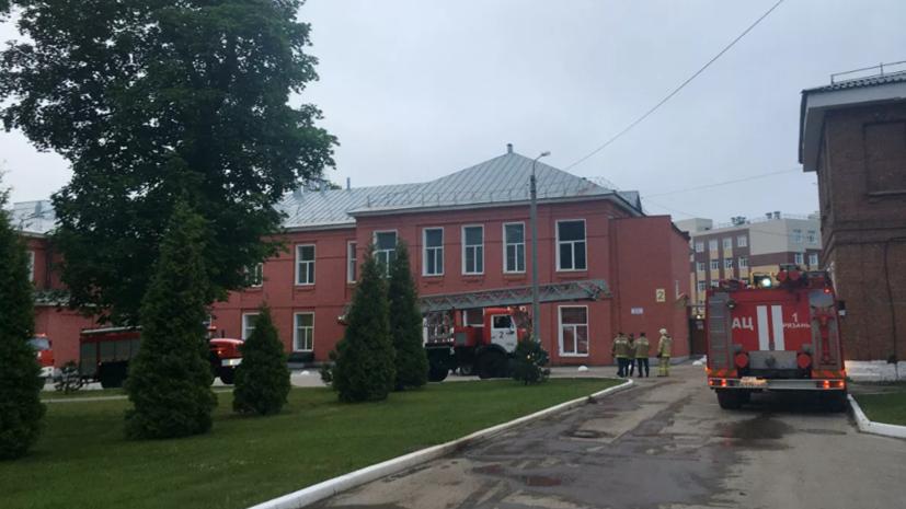 Пострадавшая при пожаре в рязанской больнице медсестра получила ожоги 1 и 2 степени