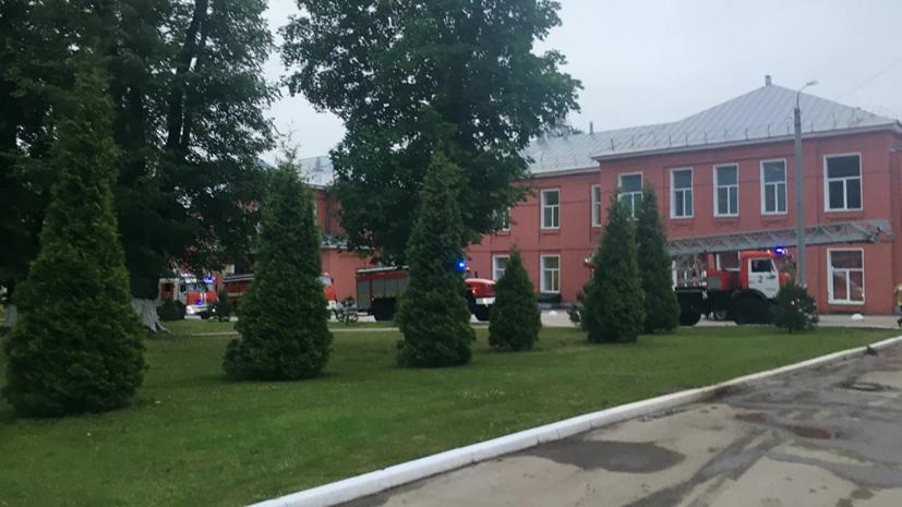 Стали известны подробности начала пожара в больнице Рязани