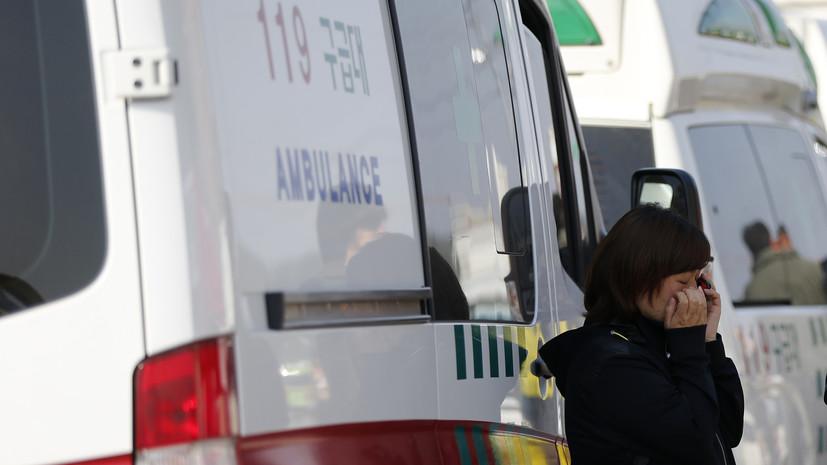 При обрушении здания в Южной Корее погибли девять человек