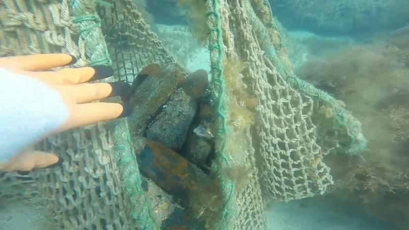 Со дна бухты в Крыму подняли почти 250 боеприпасов времён Великой Отечественной войны