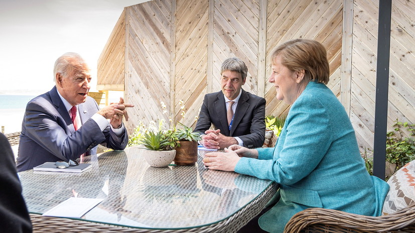 Меркель сообщила, что обсудила с Байденом «Северный поток — 2»