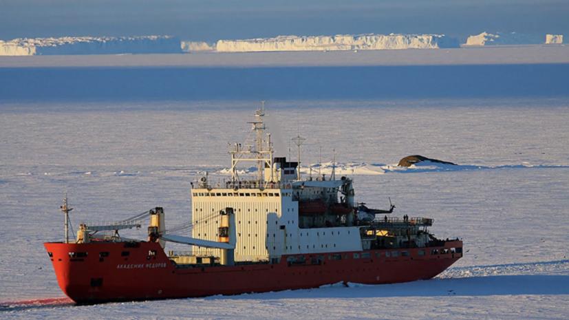 Научное судно «Академик Фёдоров» вернулось из Антарктиды в Санкт-Петербург