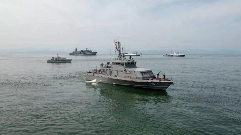 Корабли и вертолёты ТОФ на учениях в Тихом океане вытеснили подлодку условного противника