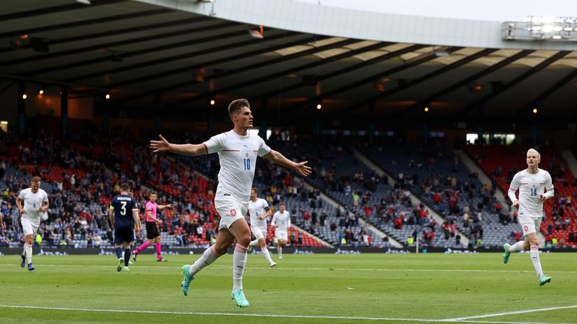 Шик стал лучшим футболистом матча Шотландия — Чехия