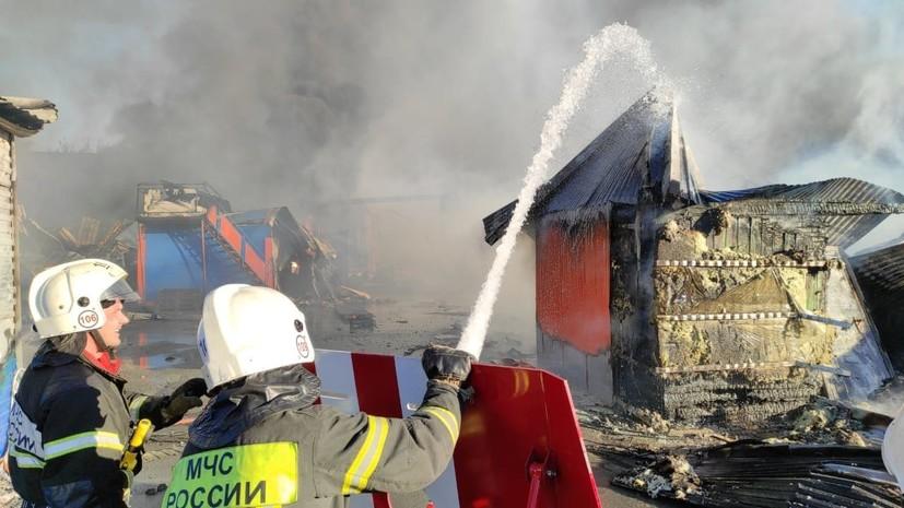 Пожар на АГЗС в Новосибирске полностью ликвидирован