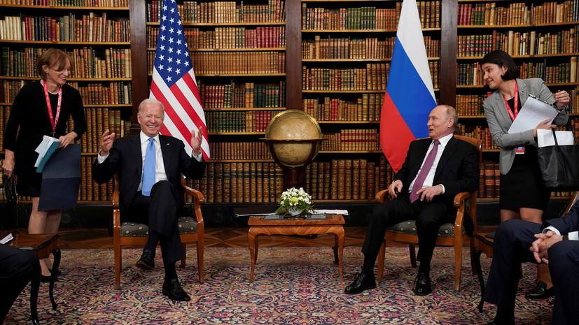 Путин отметил, что переговоры с Байденом прошли хорошо