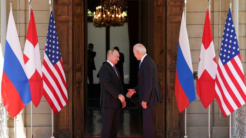 Власти Украины прокомментировали встречу Путина и Байдена