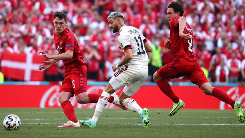 Сборные Дании и Бельгии прервали матч Евро-2020 на десятой минуте в честь Эриксена