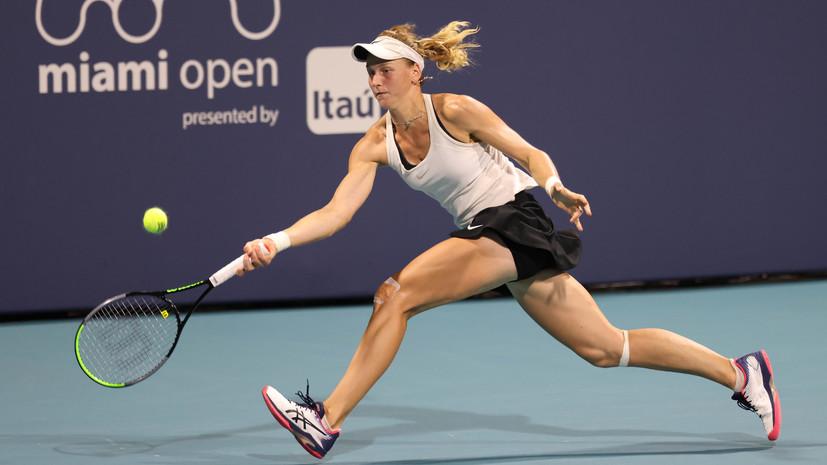 Самсонова победила Кис и вышла в полуфинал турнира WTA в Берлине