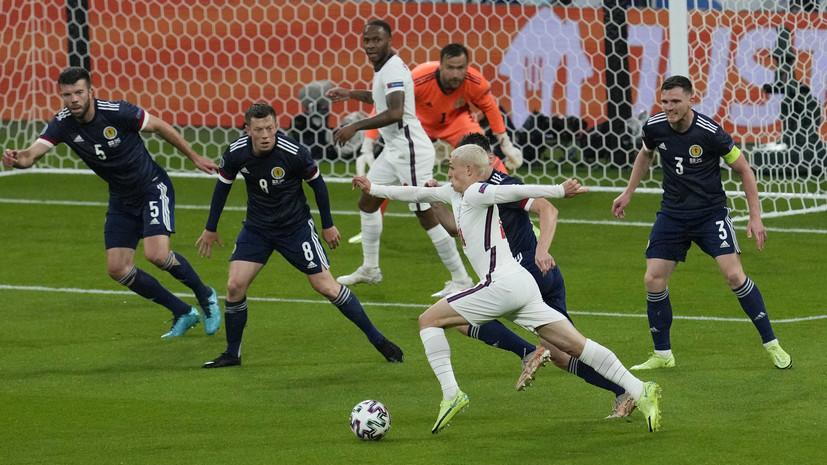 Англия вышла на матч с Шотландией самым молодым составом в истории выступлений на Евро и ЧМ
