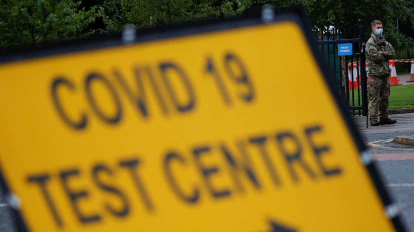 В Британии за сутки зафиксировано более 9 тысяч случаев COVID-19