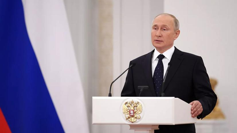 Путин обсудил с президентом ФИФА подготовку Катара к проведению ЧМ по футболу