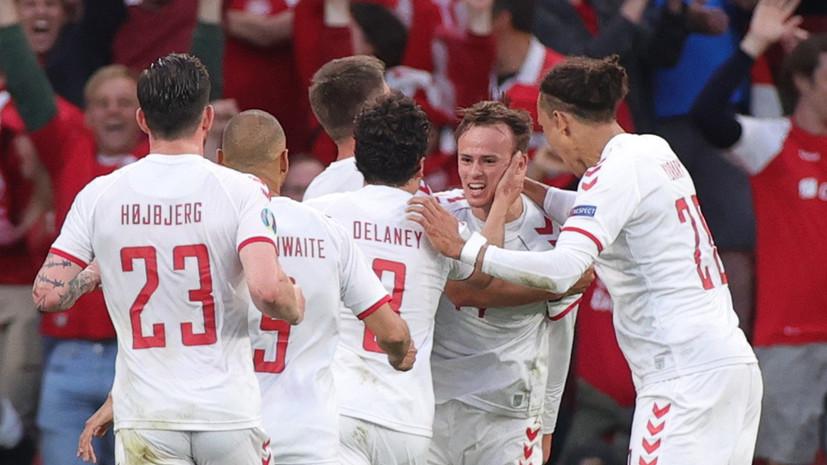Дания открыла счёт в матче Евро-2020 с Россией