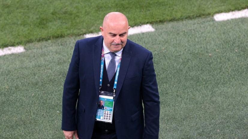 Черчесов двумя словами ответил на просьбу прокомментировать игру сборной по прилёте в Москву