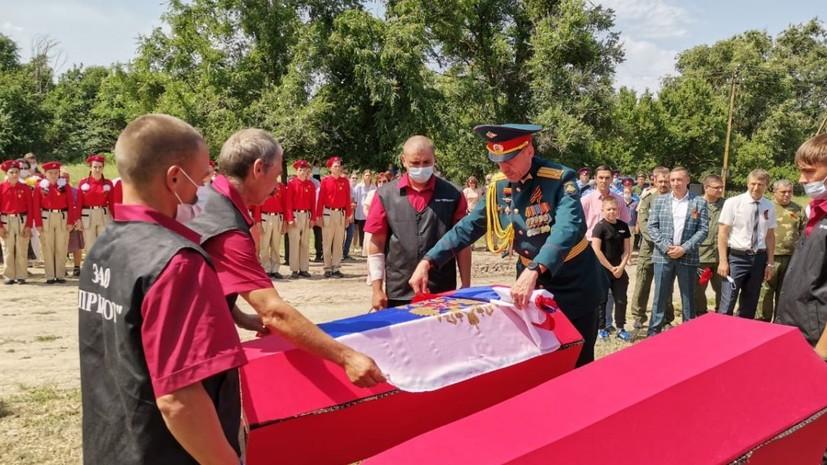 В Тульской области перезахоронили останки погибших в годы Великой Отечественной войны