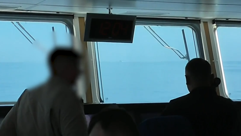 ФСБ опубликовала видео стрельбы по курсу британского эсминца