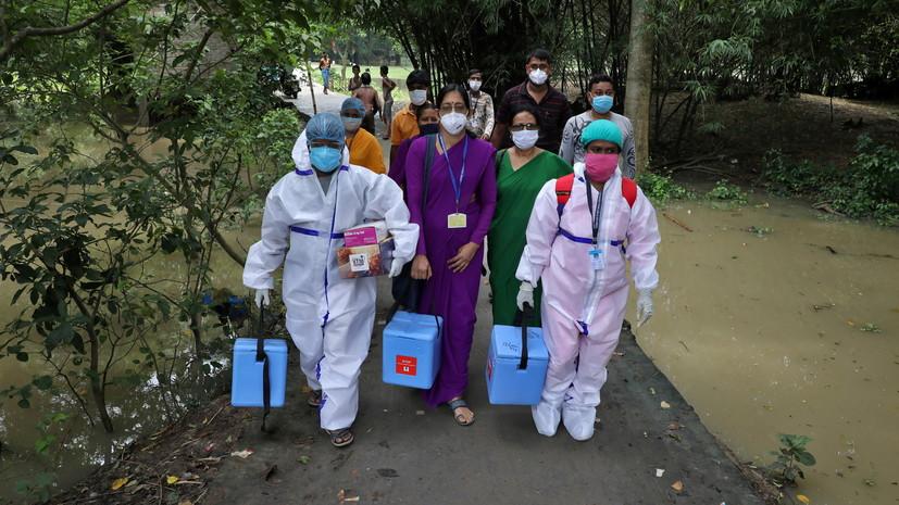 В Индии за сутки выявили более 51 тысячи случаев коронавируса