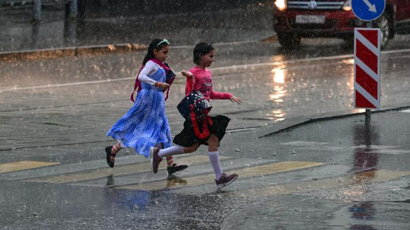 МЧС предупредило о дожде с грозой в Москве в ближайшие часы