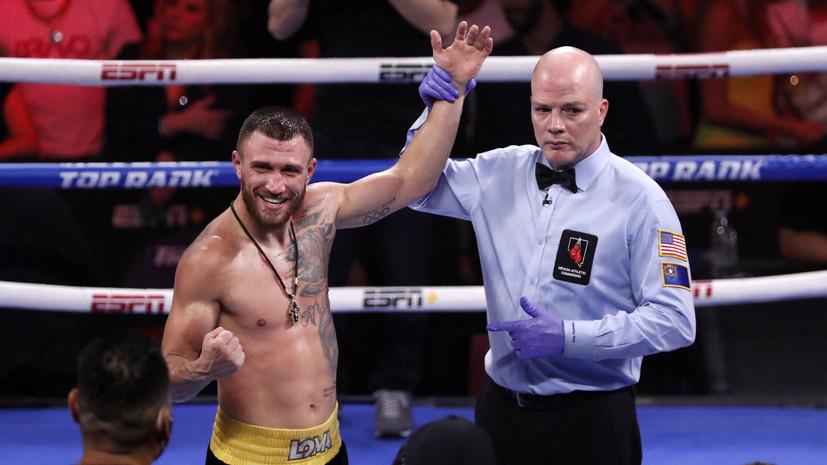 Ломаченко рассказал, когда может состояться реванш с Лопесом