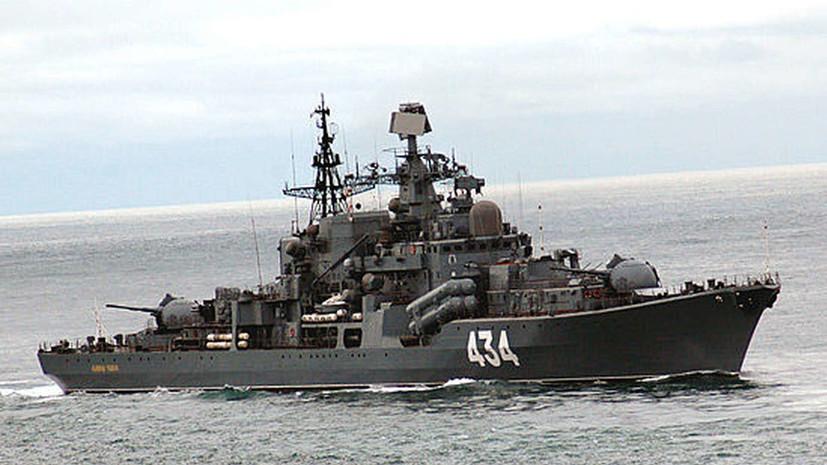 Эсминец «Адмирал Ушаков» отработал стрельбы в Баренцевом море