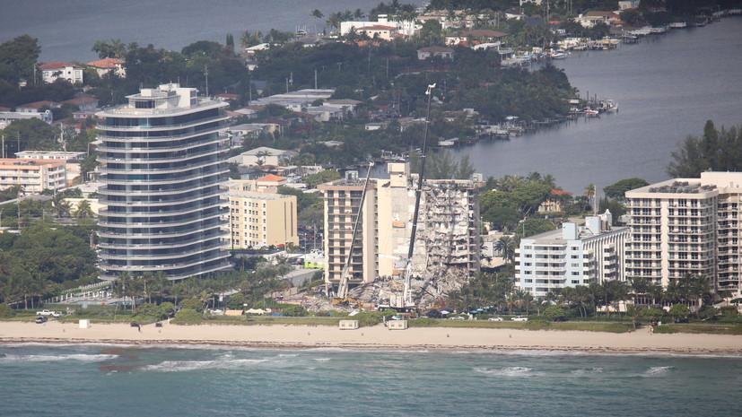 Число погибших при обрушении жилого дома в Майами возросло до девяти