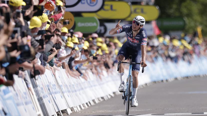 Ван дер Пул победил на втором этапе «Тур де Франс»