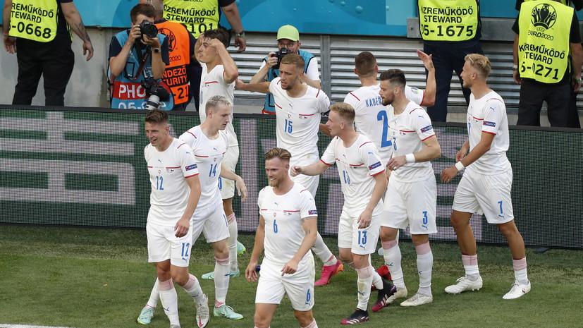 Чехия сыграет с Данией в 1/4 финала Евро-2020