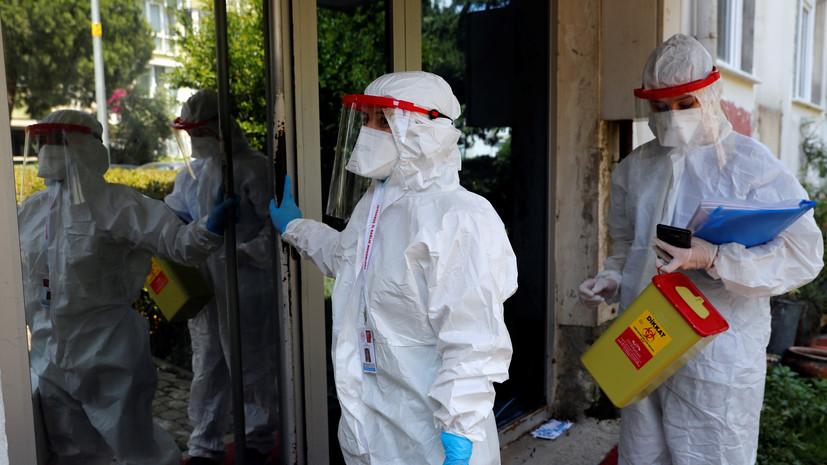 Суточный прирост случаев коронавируса в Турции составил 4883