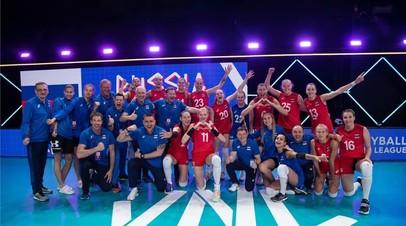 Российские волейболистки проиграли команде Бразилии в матче Лиги наций