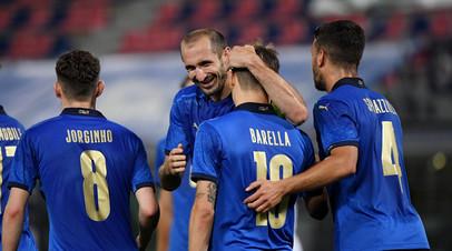 Сборная Италии по футболу разгромила Чехию в товарищеском матче