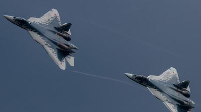 РИА Новости: в 2021 году ВКС России получат два серийных Су-57