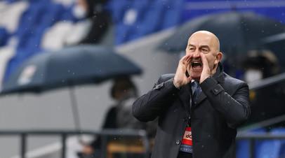 Черчесов оценил игру сборной России в два центральных защитника в матче с Бельгией