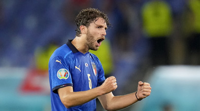 Футболист сборной Италии Локателли признан лучшим игроком матча со Швейцарией