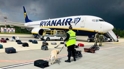 В Минске получили промежуточный доклад ICAO о ситуации с бортом Ryanair